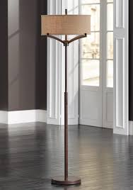 Slim Floor Lamps Franklin Iron Works Tremont Floor Lamp With Burlap Shade