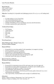 Mortgage Resume Best Solutions Of Mortgage Processor Resume Sample In Proposal