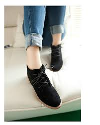 womens boots for flat black vintage casual shoes fashion ankle boots flat heel