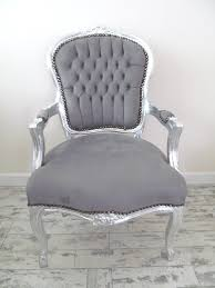French Louis Bedroom Furniture by Lyla Roze Grey French Shabby Chic Silver Louis Armchair Salon