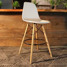 charles eames bar stool with eiffel legs 27 inches u2013 wazo furniture