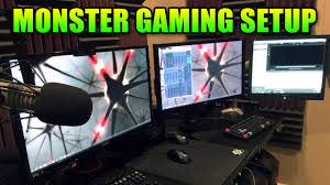 gaming office setup ultimate gaming pc setup levelcap u0027s office tour youtube