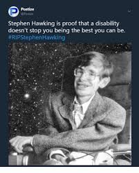 Disability Memes - postize stephen hawking is proof that a disability doesn t stop you