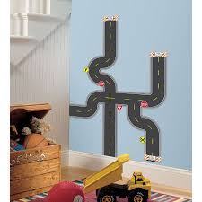 roommates rmk1720scs build a road peel and stick wall decals