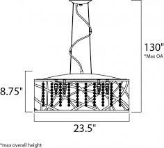 Et2 Inca 9 Light Pendant Lighting E21308 10pc Bul Inca 9 Light Contemporary Pendant With Or