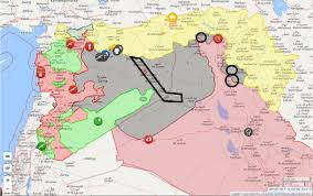 Valley Fair Map Largest Concentration Of Is Fighters Outside Raqqa Are Alongside