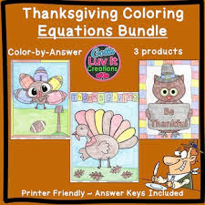 thanksgiving math activities solving equations one two multi