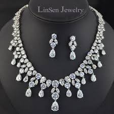 white stone necklace sets images Buy 4 colors option high quality luxury aaa cz jpg