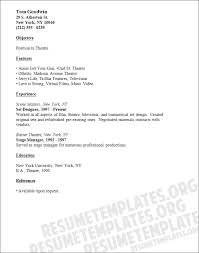 Sample Student Resume For Internship by Theatre Resume Template Sadamatsu Hp