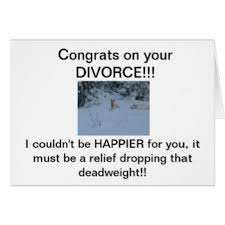 congratulations on your divorce card divorce celebration greeting cards zazzle