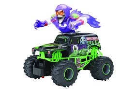 toy grave digger monster truck amazon com new bright f f monster jam bursts grave digger rc