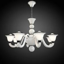 White Murano Chandelier by Chandelier Max