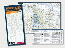 Map Of Portland Portland By Bike Map Wilborndesign