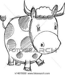 clipart of cow sketch doodle vector k14679330 search clip art