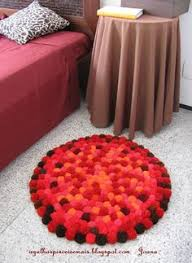 Pom Pom Rug Instructions Pompom Na Decoração Pom Pom Rug And Patchwork