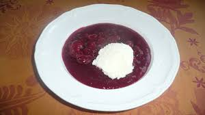 Sour cherry soup