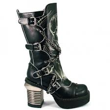 motorcycle boots for short riders skull print womens biker boots with chains by hades gothic boots