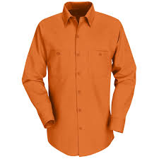 best selling solid color long sleeve work shirt sp14 red kap