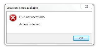drive not accessible quick fix drive is not accessible access is denied in windows 10 8
