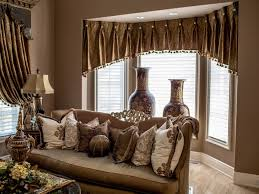 Accent Pillows For Brown Sofa by Living 44 Pretty Window Dressing With Sheer Curtain And Valance