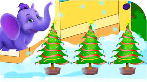 three christmas trees nursery rhyme with lyrics and sing along