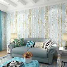 new birch tree pattern non woven woods wallpaper roll modern