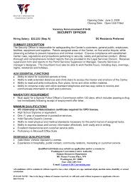 security resume template best guard example summary writing