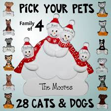 family ornaments snowman family with optional pets 4