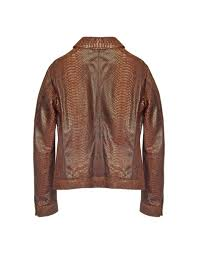 brown motorcycle jacket forzieri python leather motorcycle jacket in brown for men lyst