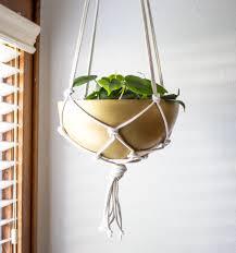 ikea planter hack diy brass hanging planter the easiest ikea hack ever
