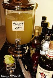 zombie virus cocktail party of the living dead pinterest