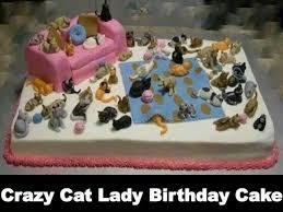 Funny Cat Birthday Meme - crazy cat lady birthday cake