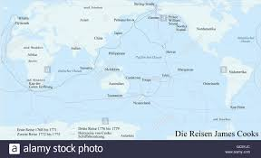 Tonga Map Cartography Historical Map Modern Times Travels Of James Cook