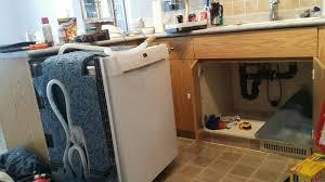 installing a dishwasher in existing cabinets how to install dishwasher that is few cabinets away from kitchen
