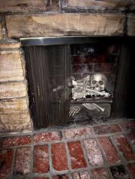 Diy Creepy Halloween Decorations Diy Spooky Halloween Fireplace Cover Halloween Fireplace