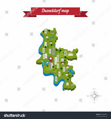 Dusseldorf Germany Map by Dusseldorf Germany Map Flat Style Design Stock Vector 358086893