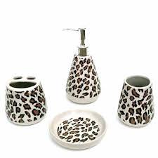 cheetah print bathroom accessoriescheetah bathroom set zebra print
