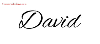 cursive name tattoo designs david free graphic free name designs