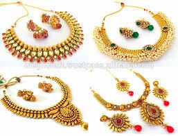 fashion jewelry necklace set images Wholesale indian gold plated pendant set kundan pendant set jpg
