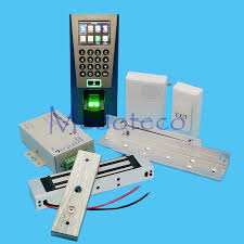 whole diy full fingerprint door access control system kit fingerprint access controller 180kg magnetic lock zl bracket wood door by