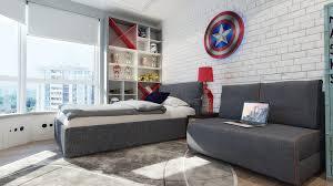 chambre pour garcon chambre pour garçon thème héros marvel