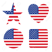 United Staes Flag American United States Flag In Form Button Of Icon Usa Emblem
