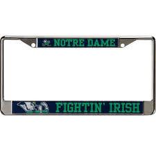 byu alumni license plate frame notre dame fighting license plates of notre dame