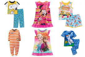 clearance sale on character pajama sets at walmart as low as