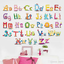 Letter Wall Decals For Nursery 26 Alphabet Letters Wall Stickers Room