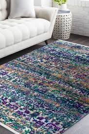 Aqua Area Rug Spread The Elegance With Aqua Floral Motif Modern Handmade Carpet