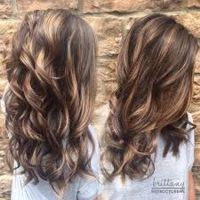 brunette hairstyle with lots of hilights for over 50 60 balayage hair color ideas with blonde brown caramel and red