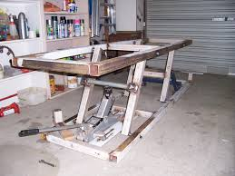 motorcycle lift table plans bike lift plans page 2 adventure rider