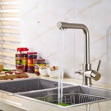 wholesale kitchen faucet wholesale and retail ptomotion nickel brushed kitchen faucet mixer