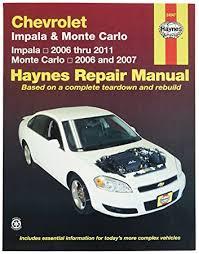 amazon com chevrolet impala 2006 2011 and monte carlo 2006 2007
